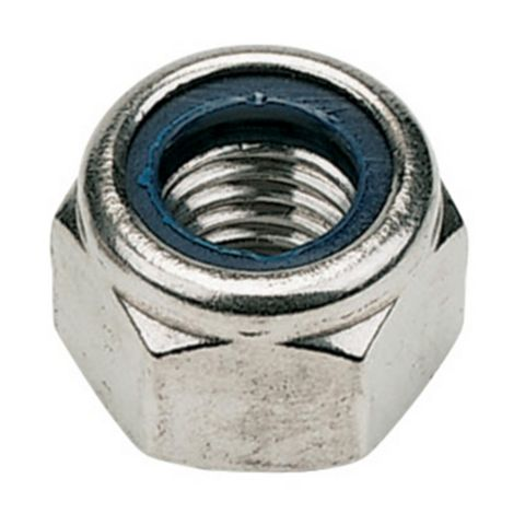 M10 A2 Stainless Steel Nylon Lock Nuts, Pack of 100