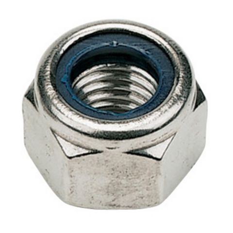 M8 A2 Stainless Steel Nylon Lock Nuts, Pack of 100