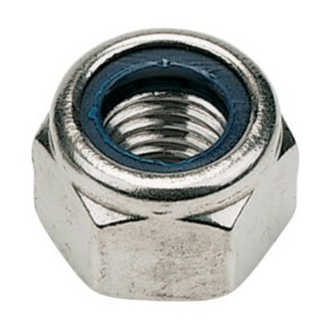 M5 A2 Stainless Steel Nylon Lock Nuts, Pack of 100