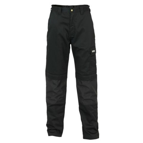 JCB The Max Black Work Trousers (Waist)36