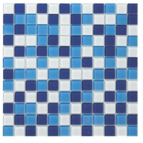 Blue Glass Mosaic Tile, (L)300mm (W)300mm