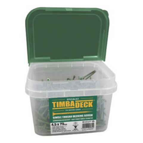 Timbadeck Green Carbon Steel Decking Screw (Dia)4.5mm (L)75mm, Pack of 500