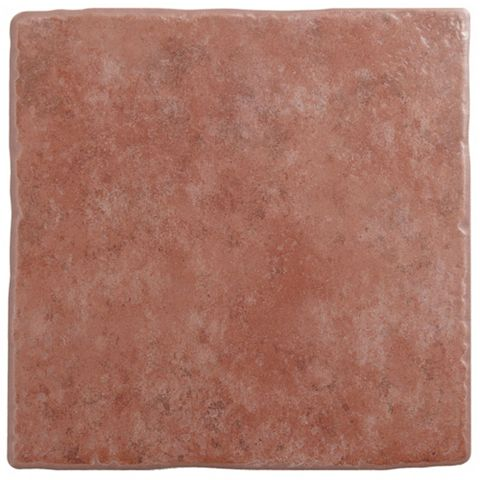 Calcuta Red Ceramic Floor Tile, Pack of 9, (L)330mm (W)330mm