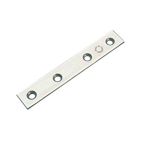 Zinc-Plated Steel Mending Plate (L)100mm, Pack of 10