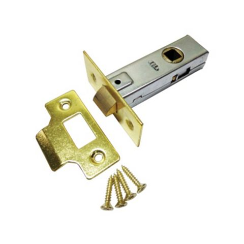 63mm Electro Brass Effect Mortice Latch