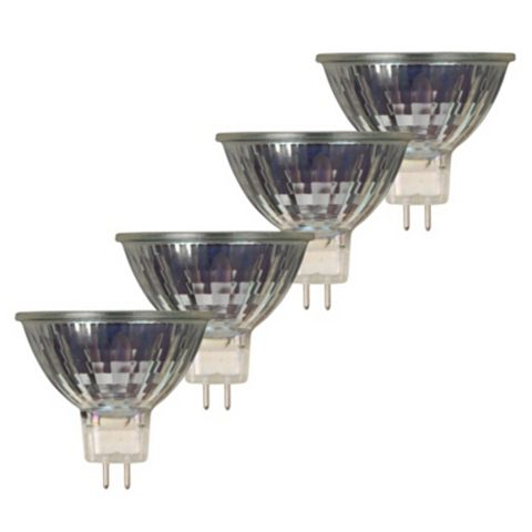 Diall GU5.3 28W Halogen MR16 Light Bulb, Pack of 4