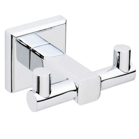 Cooke & Lewis Linear Chrome Effect Zinc Alloy Robe Hook