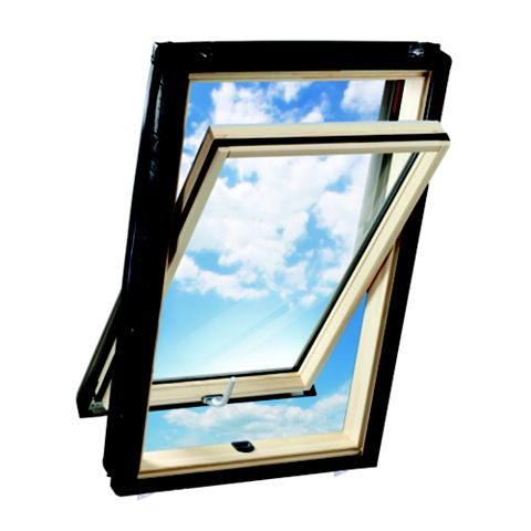 Geom Solis Pine Centre Pivot Roof Window 980 x 540 mm