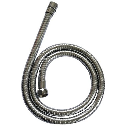 Cooke & Lewis Chrome Effect Stainless Steel Shower Hose 1250mm