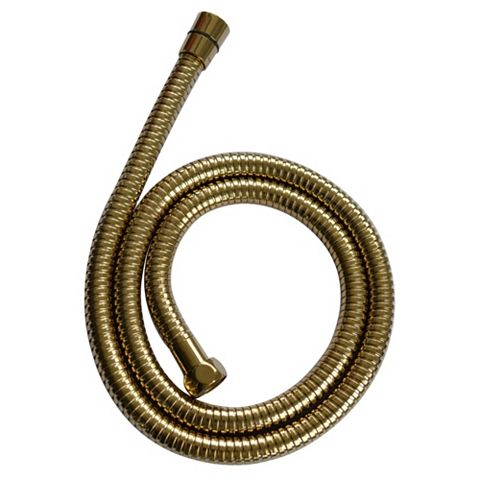 Cooke & Lewis Gold Effect Gold Brass Shower Hose 1250mm