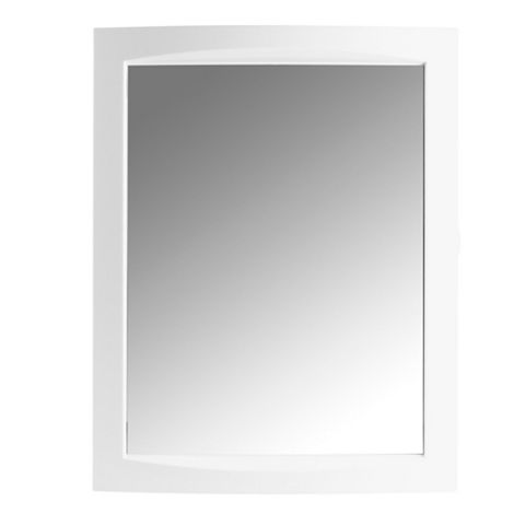 Aida Single Door White Mirror Cabinet