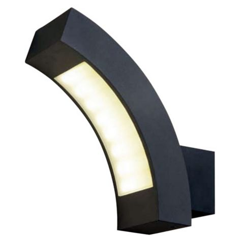 Blooma Ross Charcoal Mains Powered External Wall Light