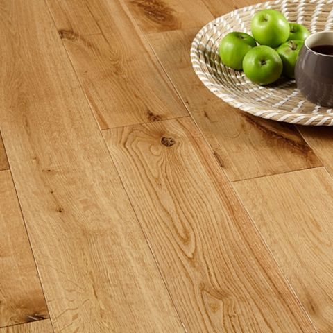 Colours Symphonia Rustic Natural Solid Oak Flooring 1.34 m² Pack