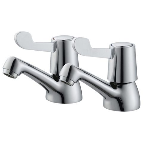 Plumbsure Amber Chrome Hot & Cold Basin Tap, Pack of 2