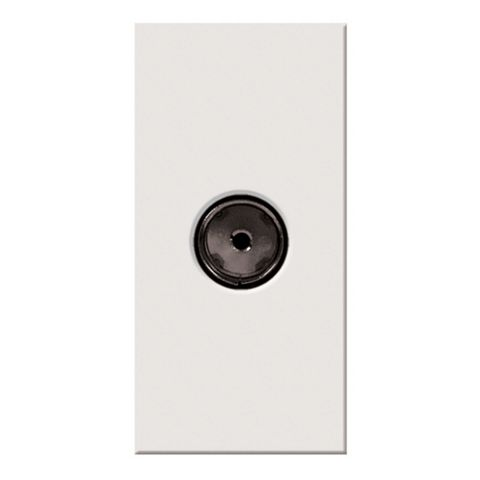 Lap White Co-Axial Socket Module
