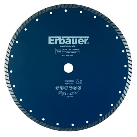 Erbauer (Dia)350mm Diamond Turbo Blade
