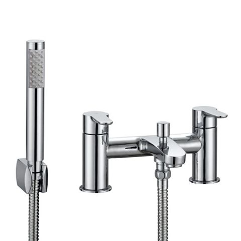 Cooke & Lewis Calista Chrome Bath Shower Mixer Tap