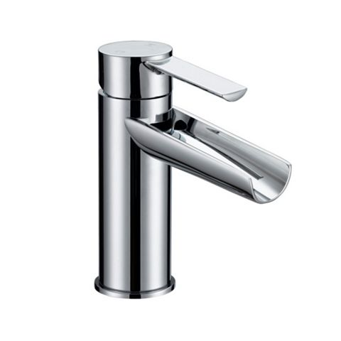 Cooke & Lewis Bamboo 1 Lever Top Mount Basin Mixer Tap