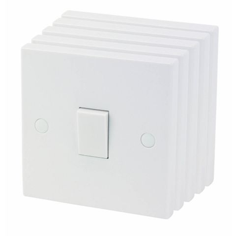 1-Gang 2-Way 10AX Switch, Pack of 5