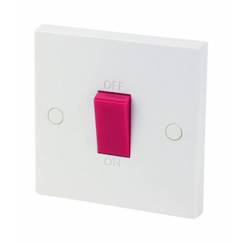 1 Gang 45A Cooker Switch