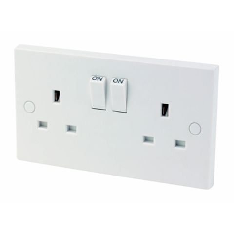 13A 2-Gang Switched Socket