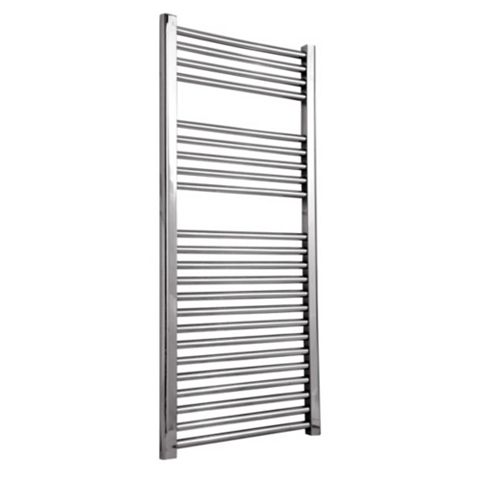 Flomasta Flat Towel Radiator Chrome (H)1100 (W)600mm
