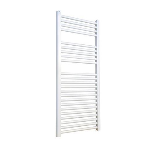 Flomasta White Towel Radiator (H)1100 (W)600 mm