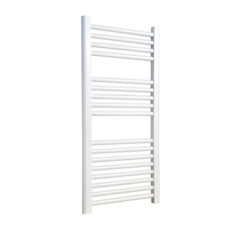 Flomasta Horizontal Towel Radiator White Powdered Surface (H)900 (W)450mm