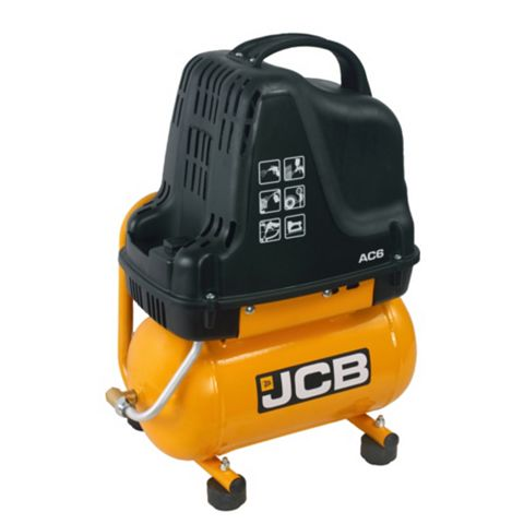JCB 6L Compressor Inflating Pistol with Pressure Gauge, Three Inflation Nozzles & A 3M Spiral Hose JCB-AC6
