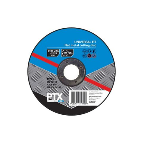 PTX (Dia)115mm Flat Metal Cutting Disc