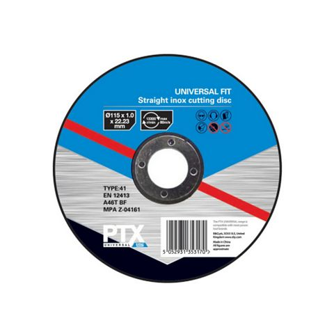 PTX (Dia)115mm Straight Inox Cutting Disc