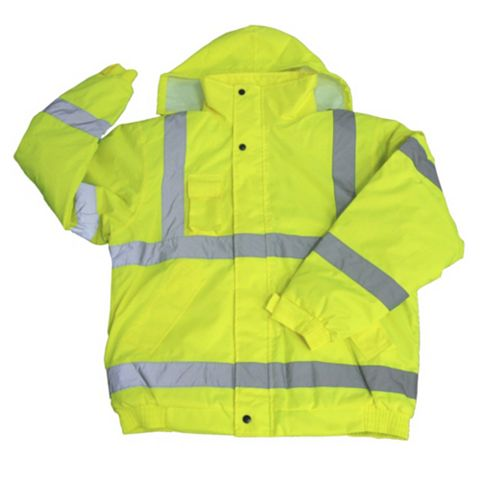 Diall Yellow Waterproof Hi-Vis Lightweight Jacket Large