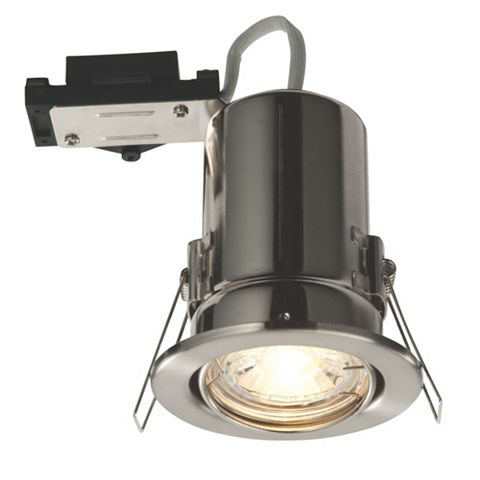 Lap Fire Rated Brushed Chrome Downlight 2.5 W