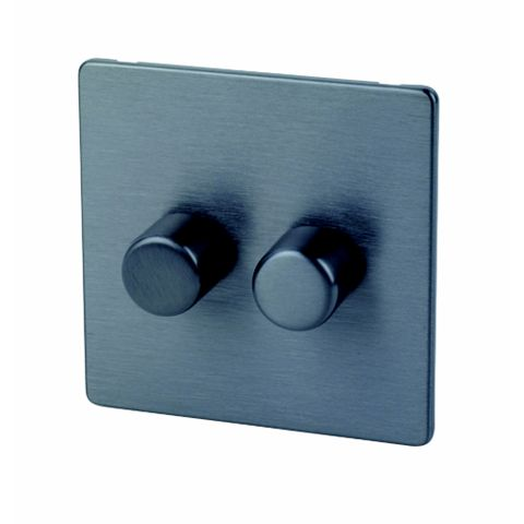 Lap 2-Gang 2-Way Slate Effect Dimmer Switch