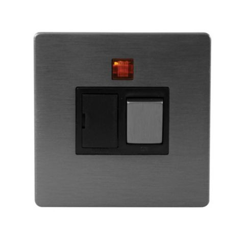 Lap Slate Effect Switched Fused Connection Unit 13A