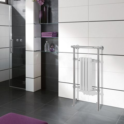 Traditional Chrome Towel Warmer (H)952mm (W)479mm