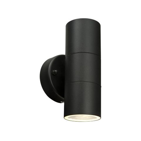 Blooma Somnus Black External Up & Down Wall Light