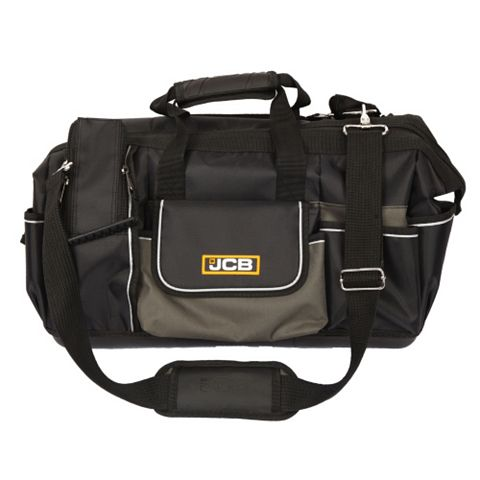 JCB Iron Plated Hard Base Open Mouth Tool Bag (W)505mm (D)250mm