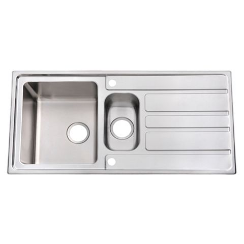 Cooke & Lewis Lunda 1.5 Bowl Stainless Steel Sink with Reversible Drainer