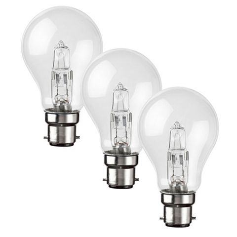 Diall Bayonet Cap (B22) 28W Halogen GLS Light Bulb, Pack of 3