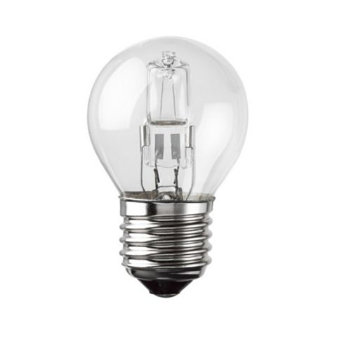 Diall Edison Screw Cap (E27) 28W Halogen Round Light Bulb, Pack of 3