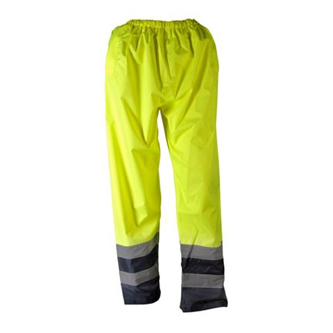 Tradesman Blue & Hi-Vis Yellow Waterproof Trousers (Waist)26