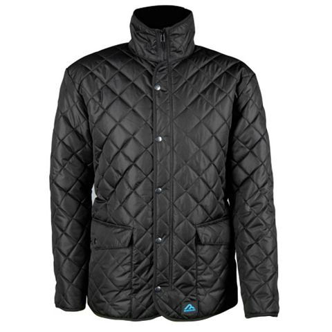 Rigour Black Quilted Jacket Medium