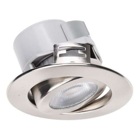 Diall Brushed Nickel Effect Downlight 5.5 W, Pack of 3