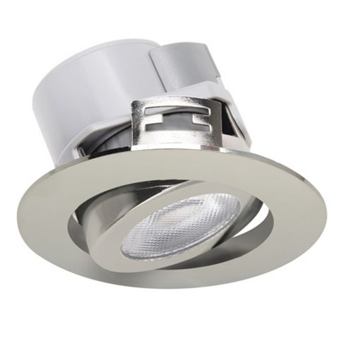 Diall Chrome Effect Downlight 5.5 W, Pack of 3