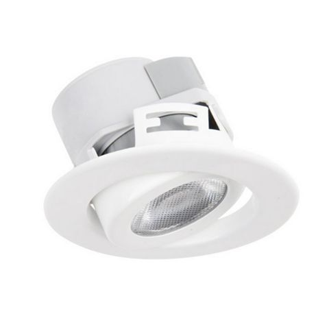 Diall White Gloss Downlight 5.5 W, Pack of 3