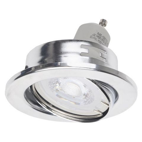 Diall Chrome Effect Downlight 5.3 W, Pack of 3