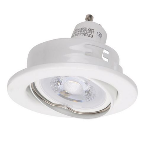 Diall White Gloss Downlight 5.3 W, Pack of 3
