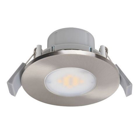 Diall Brushed Chrome Effect Downlight 7.5 W, Pack of 3