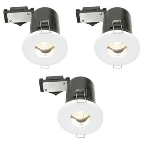 Diall Fire Rated White Gloss Downlight 3.5 W, Pack of 3